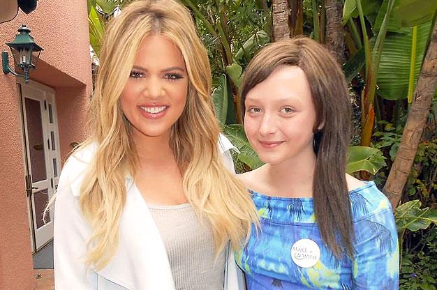 Felicity wished to meet Khloe Kardashian