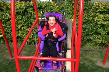 I wish to have a wheelchair swing