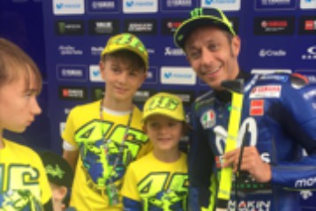 I wish to meet Valentino Rossi