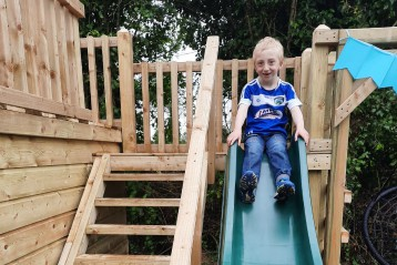 Joshua's wish to have his own play equipment