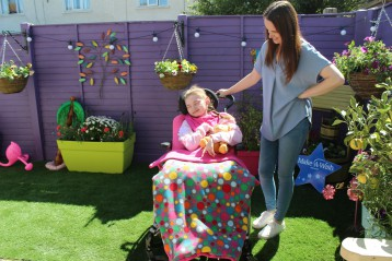 Zara's wish for a sensory corner in her garden