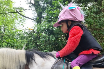 Sophia-Jane's wish to go horse riding