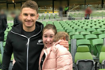 I wish to meet Beauden Barrett and the All Blacks Team